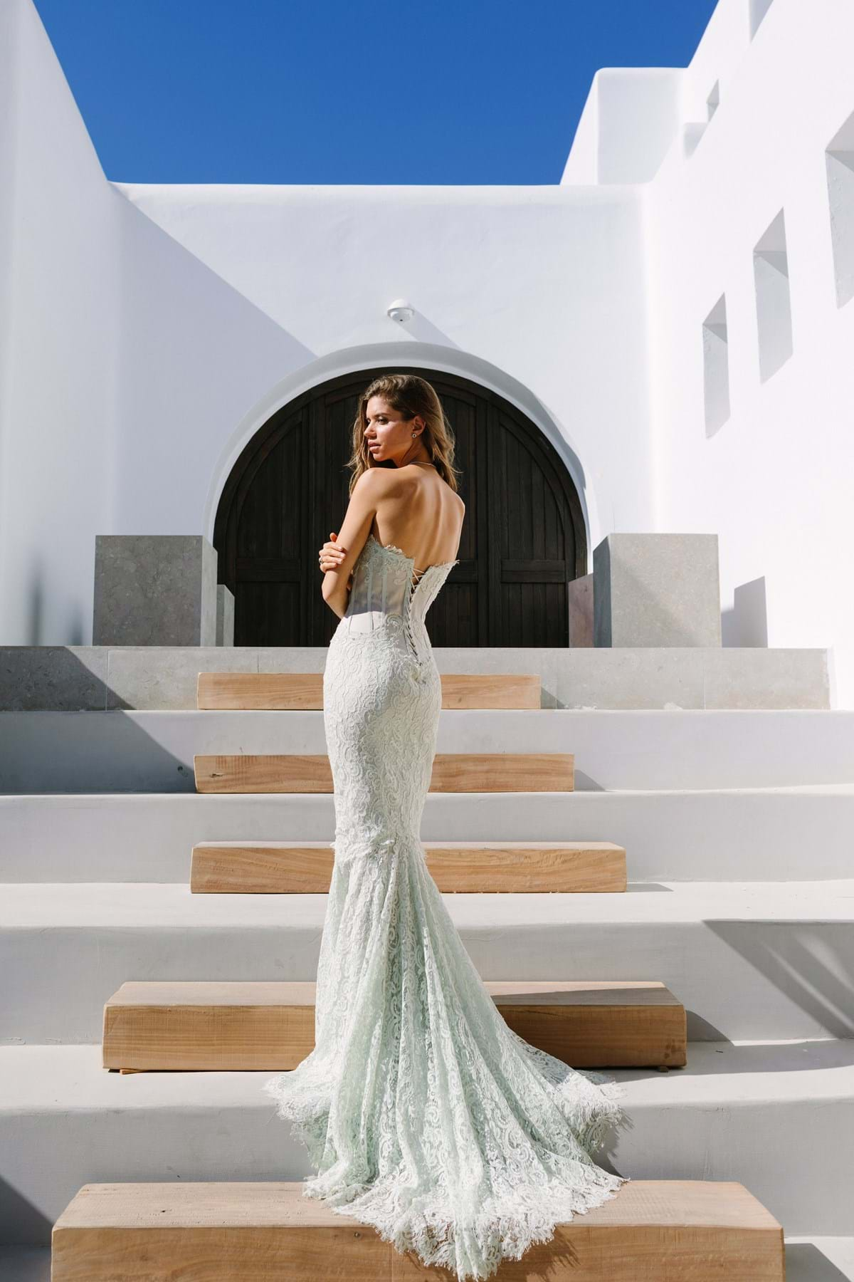 Couture Fashion for a Greece Destination Wedding or Event