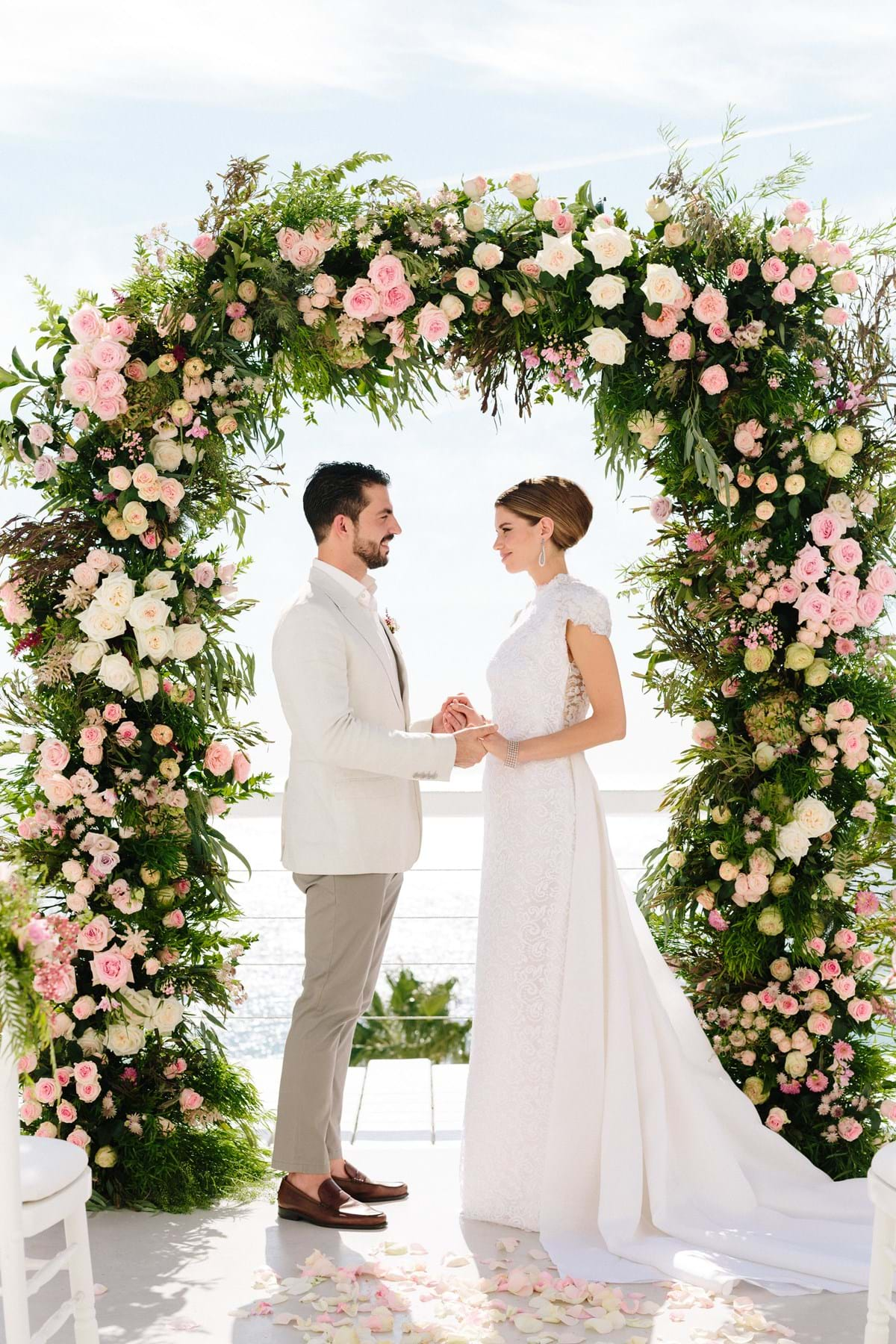 Wedding Flower Inspiration for a Luxury Destination Wedding in Mykonos
