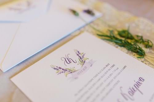 Image 2 of Lavender Spring Wedding in Athens